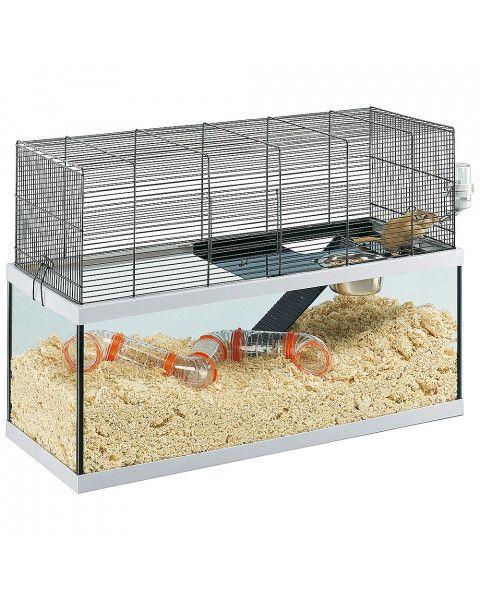 Para un par de jerbos, una jaula de aproximadamente 30 cm. por 60 cm. por 30 cm. de alto es un buen tamaño mínimo